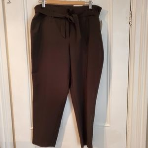 NWT Black Paperbag Pants